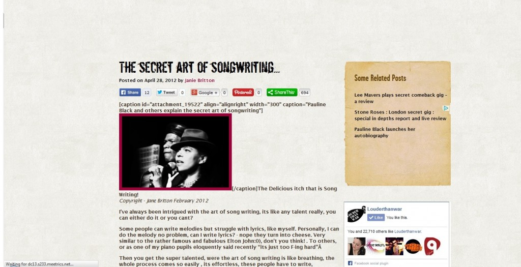 The Secret Art of Songwriting